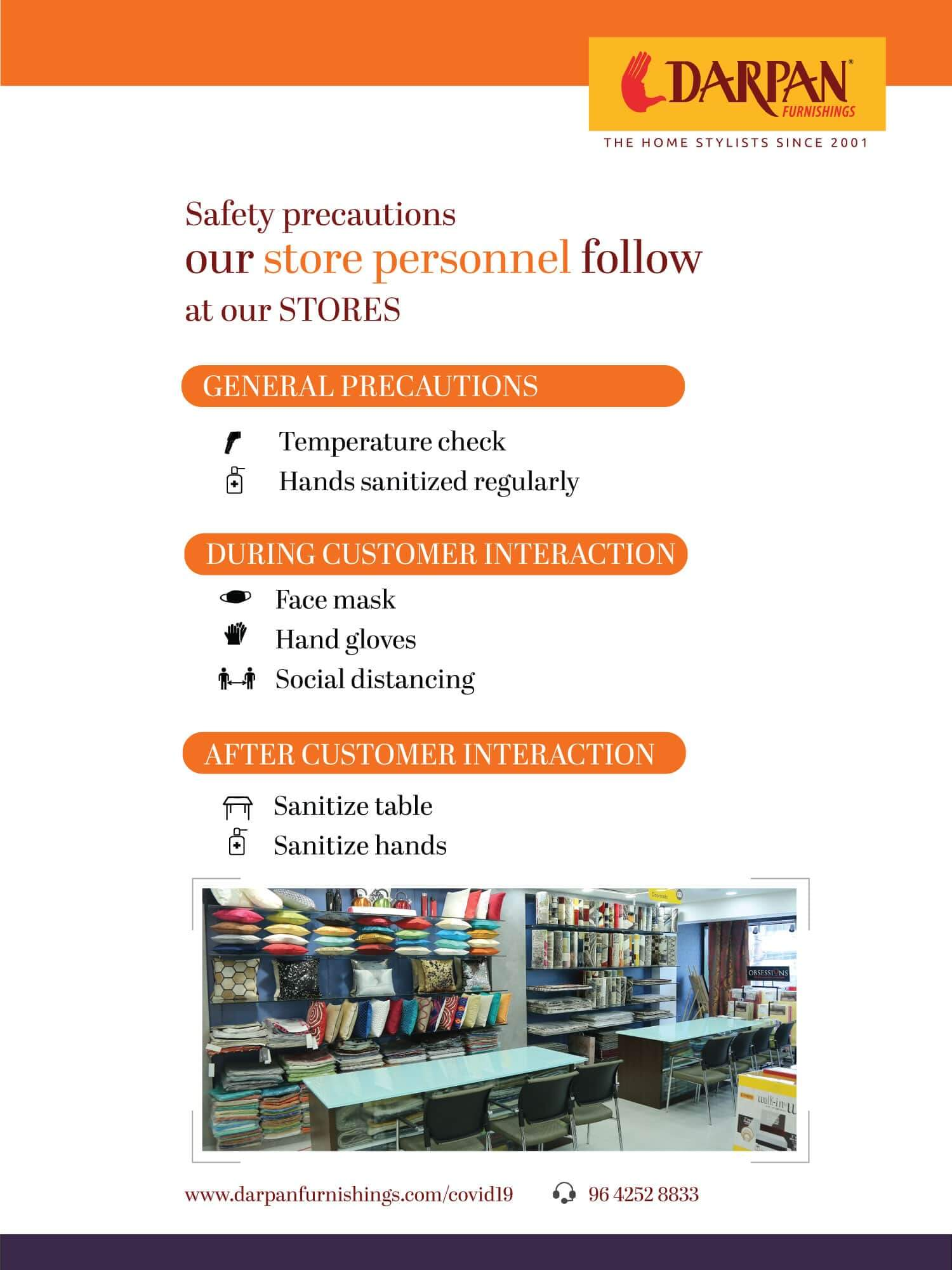 Darpan  Safety precautions by store personell at Store min 1