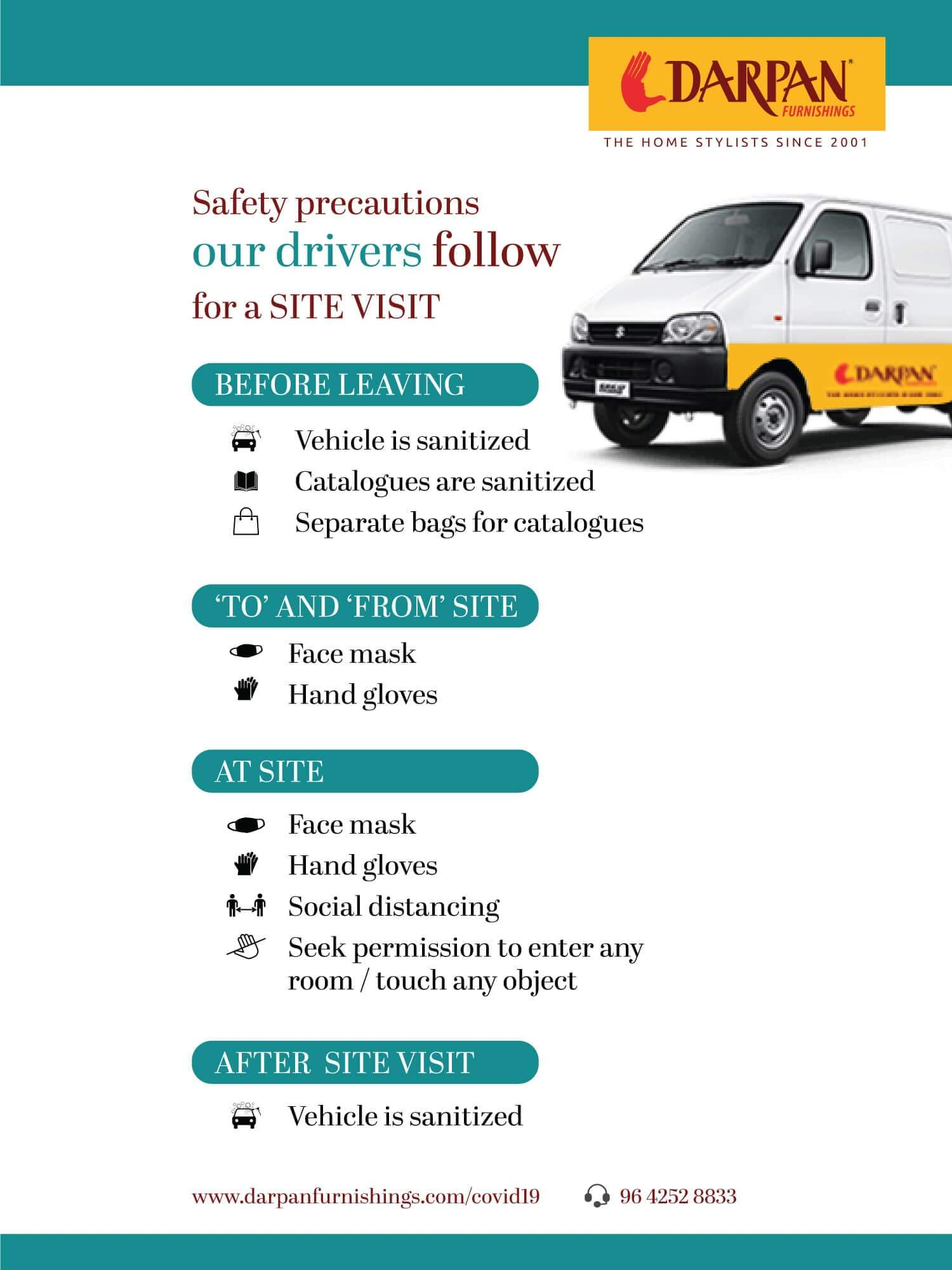 Safety precautions by Drivers during site visit min 1